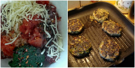 Beef burgers with cheese, tomato and mixed greens by Laka kuharica: steps to prepare burgers