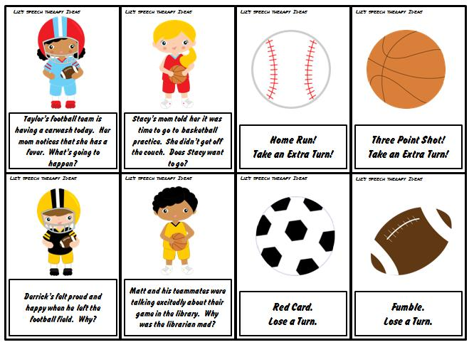 Liz S Speech Therapy Ideas Sports Language Packets