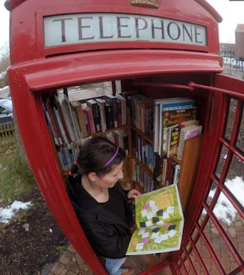 Perpustakaan kotak telepon - Sekitar Dunia Unik