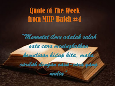 Quote of the week MIIP Batch #4