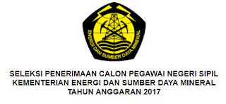 Penerimaan CPNS Terbaru Tingka SMK S1 D3 Kementerian Energi dan Sumber Daya Mineral