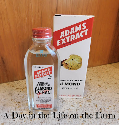 bottle of almond extract