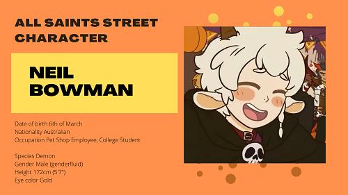 All Saints Street Character: Neil Bowman
