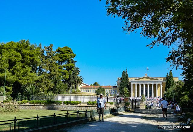 O Zappeion, edifício usado em cerimônias de Estado, nos Jardins Nacionais de Atenas