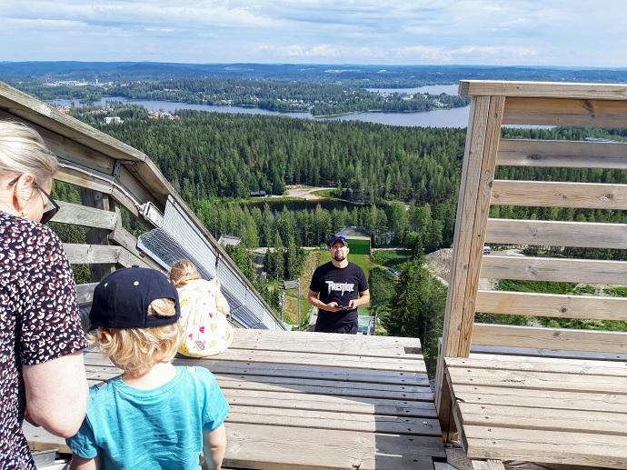 Matti Nykäsen Mäen näkötorni / Jyväskylän hyppyrimäki kesä 2019