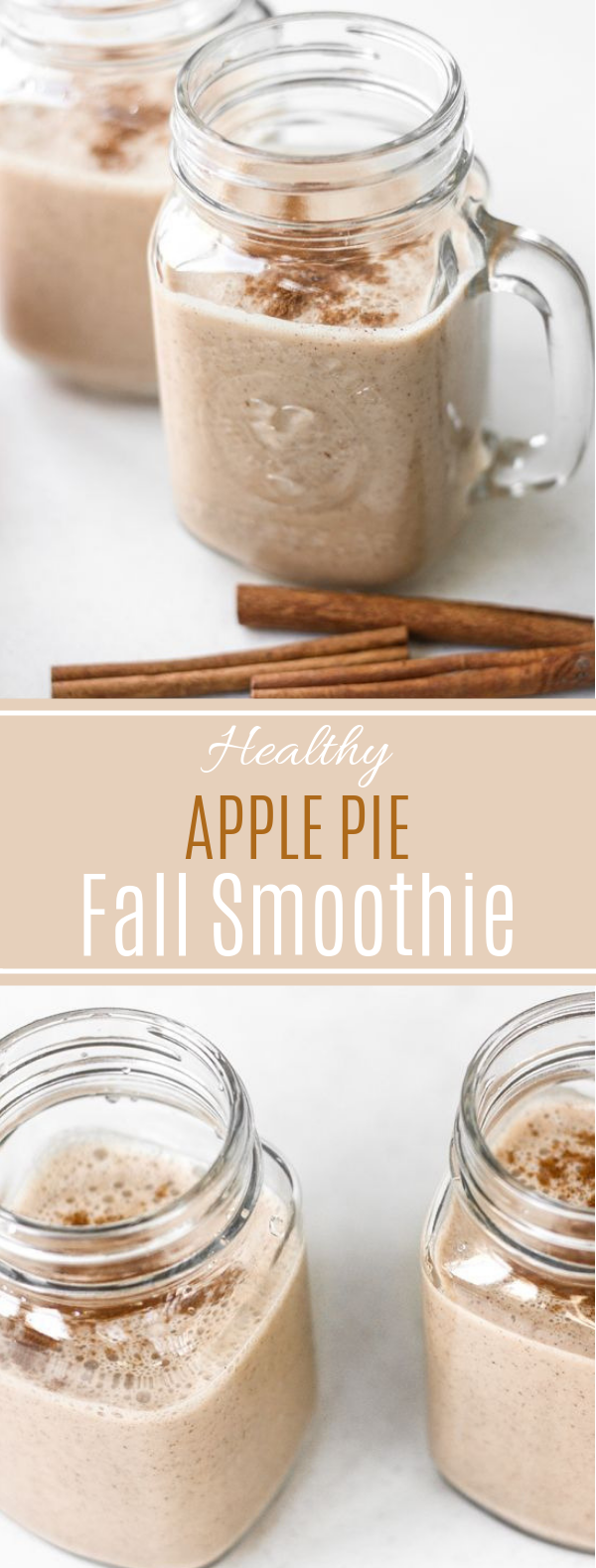 Healthy Apple Pie Fall Smoothie #healthy #drink