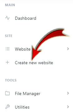 Create New Website