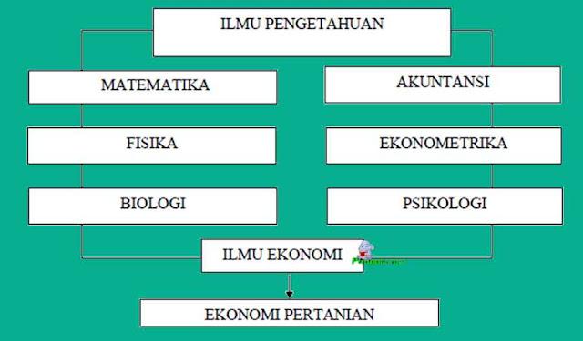 Ilmu ekonomi pertanian memiliki hubungan erat dengan ilmu lain seperti Matematika, Fisika, Biologi, Akutansi, Ekonometrika, Psikologi, dan Ekonomi. Secara sederhana, hubungan ilmu ekonomi pertanian dengan ilmu-ilmu lainnya disajikan dalam bentuk skema pada Gambar berikut.