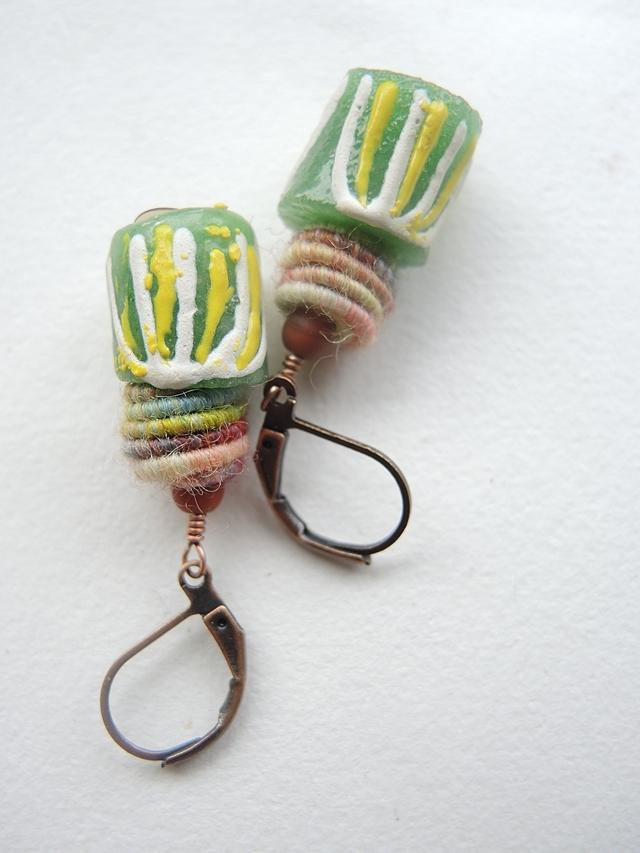 DIY oorbellen/earrings 'Fuffy'