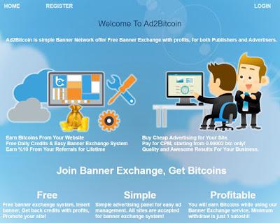 Ad2Bitcoin est une régie publicitaire très simple à utiliser