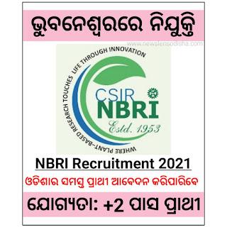 CSIR-NBRI Recruitment 2021, Jobs In Bhubaneswar,