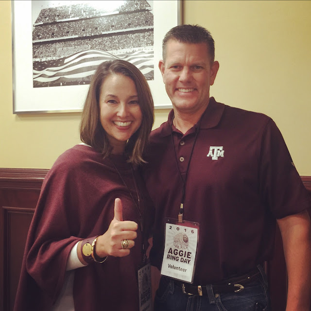 while I waited - weekend recap - Aggie Ring Day
