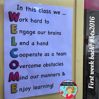 Welcome poster copyright (c) 2016 by Teacher Ms H