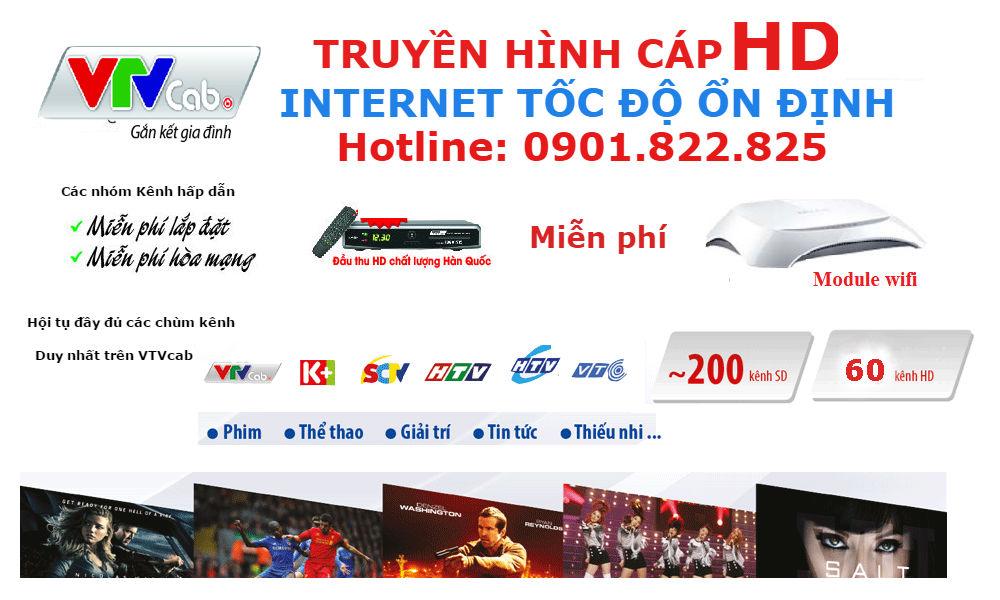 Truyền hình cáp Ninh Hòa VTVcap lắp Internet cáp quang tốc độ cao