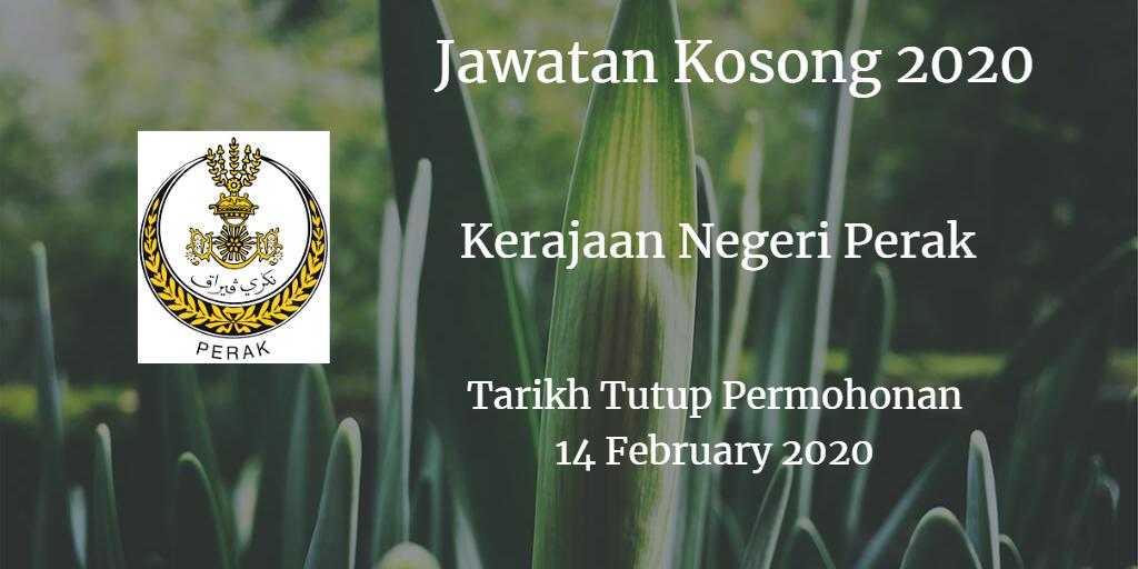 Jawatan Kosong Kerajaan Negeri Perak 14 February 2020