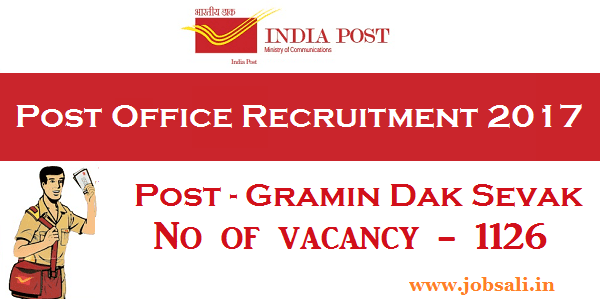 India Post recruitment, Gramin Dak Sevak Jobs in Andhra Pradesh, Postal Recruitment
