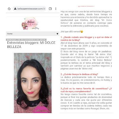 Entrevista midolcebelleza en belleza en mi neceser 1