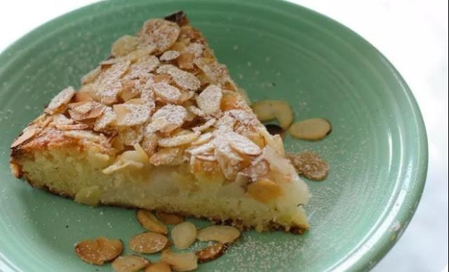 Italian Pear Almond Cake #desserts #cake