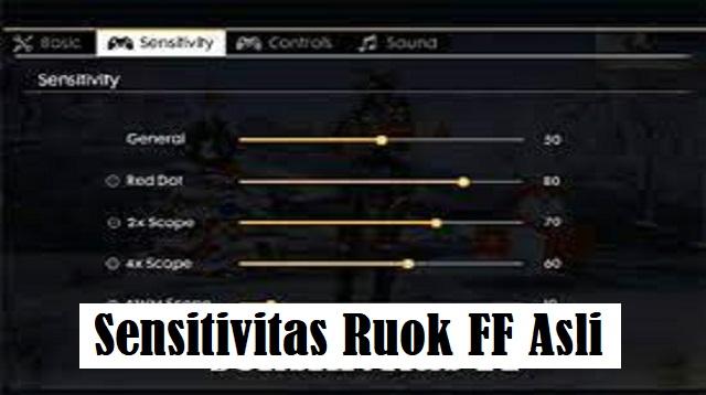 Sensitivitas Ruok FF Asli