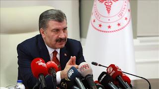 حصيلة جديدة يعلن عنها وزير الصحة التركي للإصابات والوفيات بفايروس كورونا