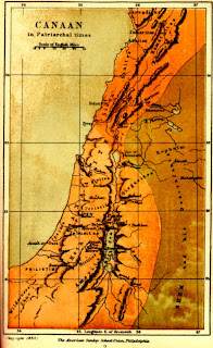 Mapa de Canaán