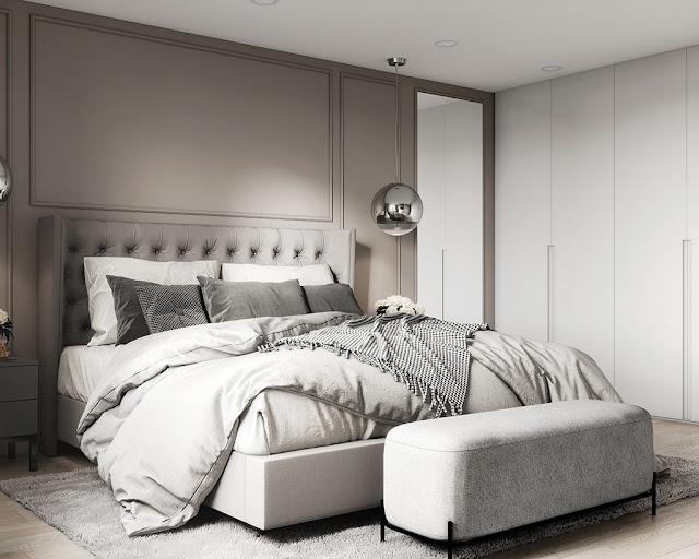 Mẫu thiết kế nội thất chung cư phong cách hiện đại màu xám lông chuột P1
