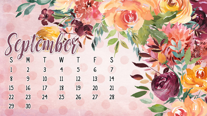 September Calendar Wallpaper