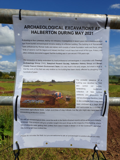 Archaeological excavations notice on gate
