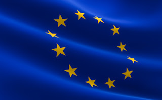 Pic of blue EU flag with its yellow stars