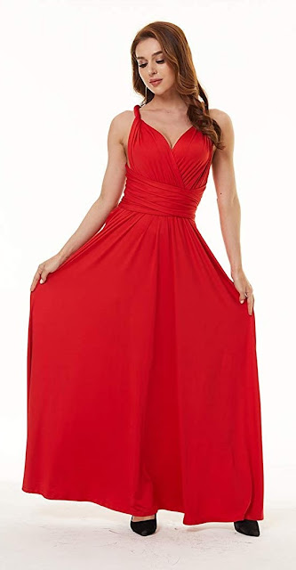Red Chiffon Bridesmaid Dresses