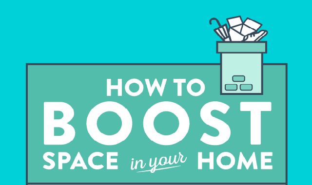 How to Boost Space in Your Home #infographic