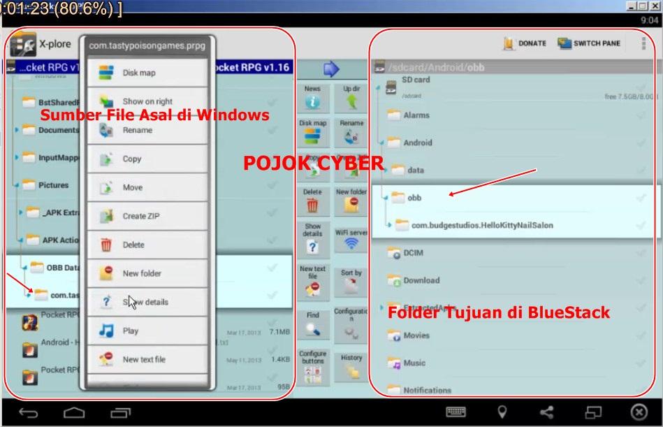 Video Tutorial Cara Install Apk Dan Obb Data Ke Android Emulator