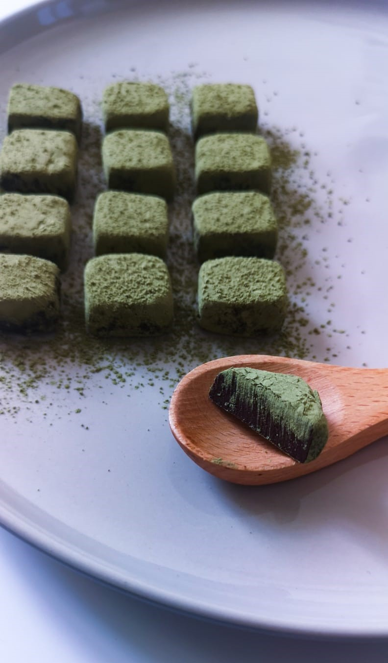 Rezept für Matcha-Pralinen