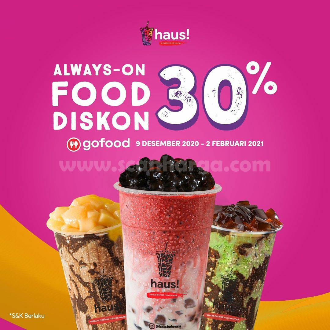 HAUS FOODISKON 30% Promo Gofood
