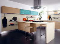 Contemporary wooden kitchen island with minimalist design ideas