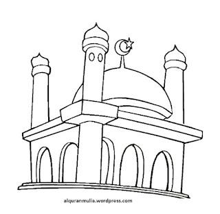 Gambar Sketsa Mewarnai Masjid Terbaru 201724