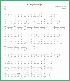 not angka lagu yu ragem belajar lagu daerah banten