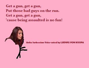 Defend Anita Sarkeesian credits song Get a Gun