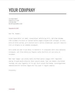 Mordern writer google docs cover letter template