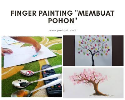 """finger painting untuk anak usia dini """"membuat pohon"""""""