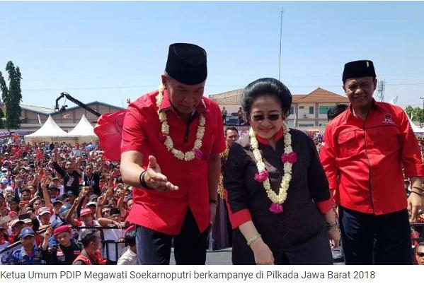 Ketua Umum PDI Perjuangan Turun Gunung di Pilkada Jabar