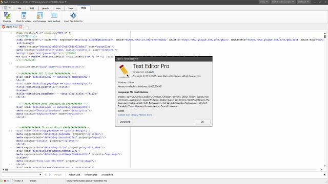 تنزيل برنامج تكست اديتور برو لتحرير النصوص وأكواد البرمجة المكتوبة بالعديد من لغات البرمجة المختلفة.