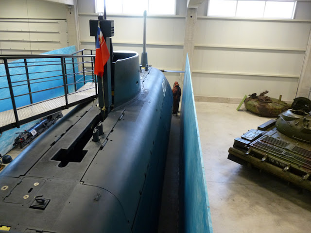 Exterior del submarino. Museo de Historia Militar. Eslovenia
