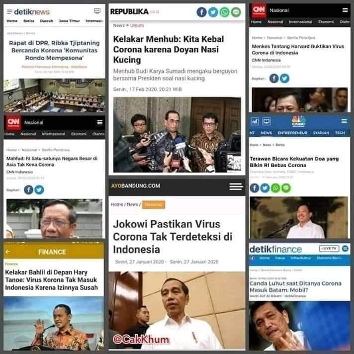 Menolak Lupa: Garingnya Bercandaan Pejabat Negara Soal Korona