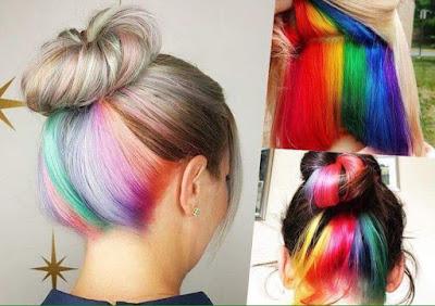 Fotos de Belleza Femenina : Peinado multicolor