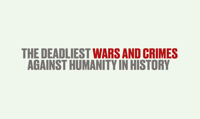 The Deadliest Wars and Crimes Against Humanity in History