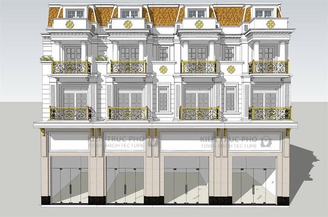 Mẫu nhà phố điển hình khu City-Land mặt tiền rộng 5m có file Cad download