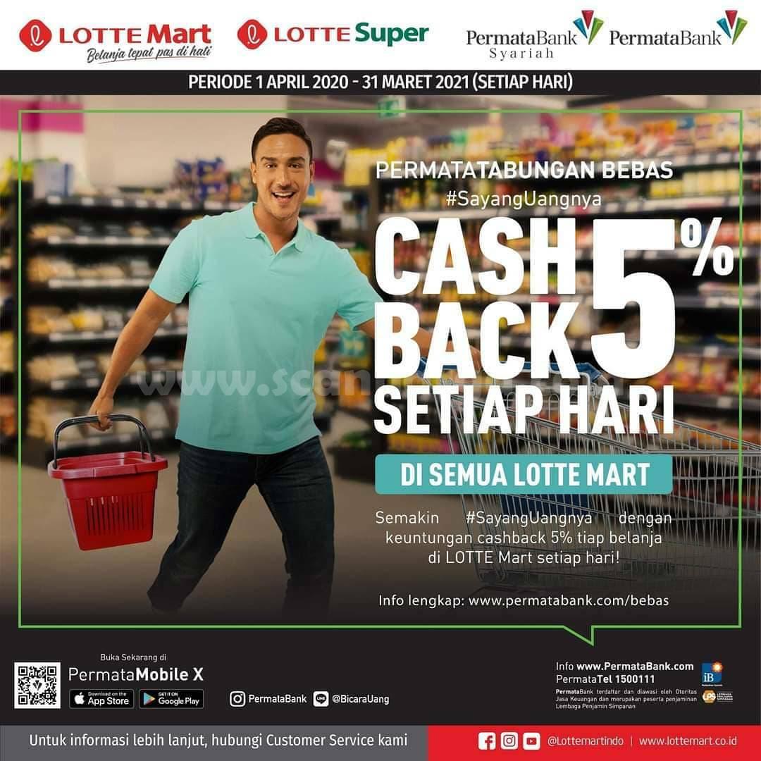 Lottemart Promo Cashback 5% Setiap Hari dengan Kartu Kredit Bank Permata