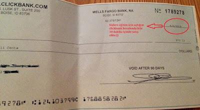 Clickbank Ödeme Kanıtım Çek