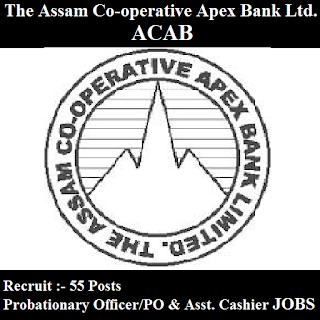 The Assam Co-operative Apex Bank Ltd. , ACAB, Apex Bank Assam, Apex Bank, Assam, Bank, Probationary Officer, PO, Cashier, Graduation, freejobalert, Sarkari Naukri, Latest Jobs, apex bank logo